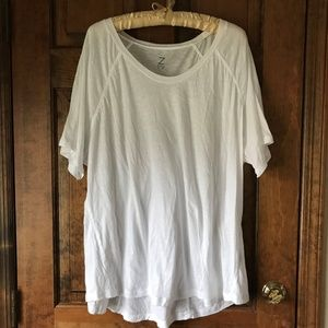 "Zella ""White Tee Shirt"" Tunic 3X"